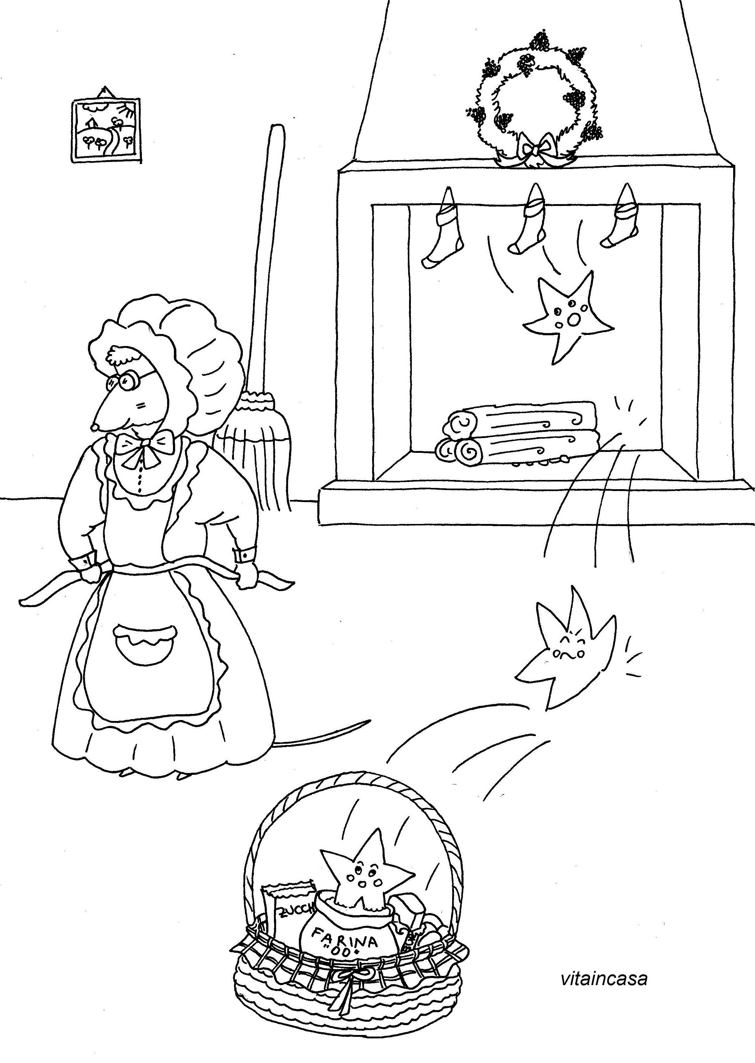 I biscotti speziati stellari e un disegno da colorare – VITAINCASA