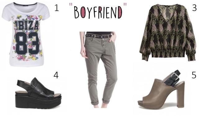 Pantaloni boyfriend outfit