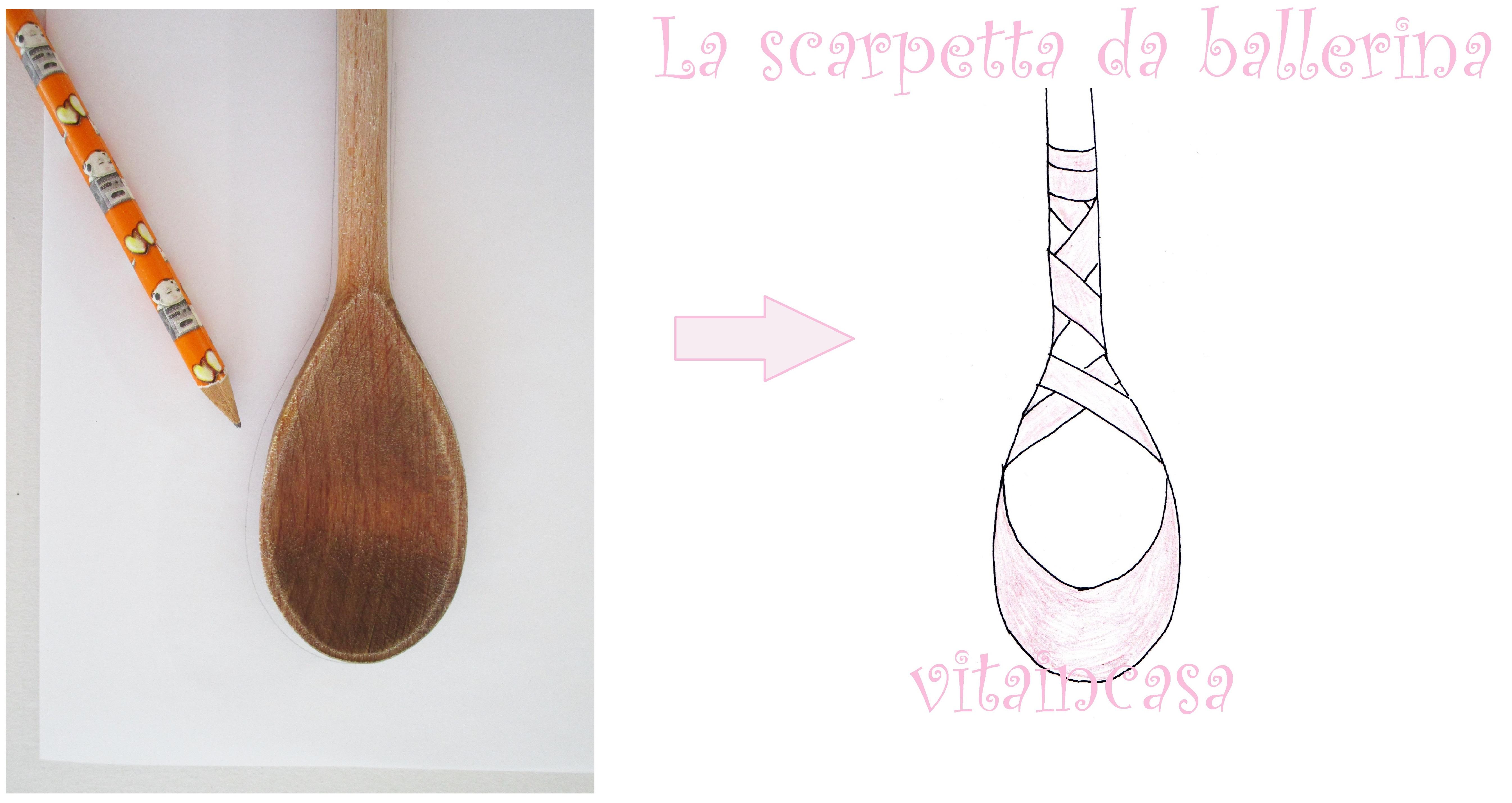 Disegno Di Una Ballerina : Disegni a cucchiaiate la scarpetta da ballerina u vitaincasa