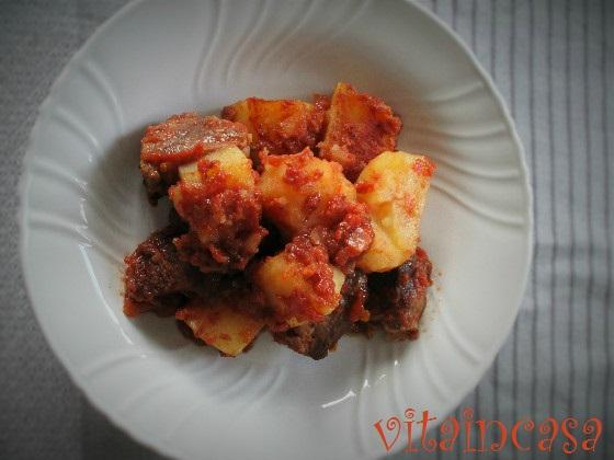 Spezzatino al forno con le patate