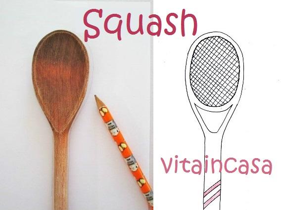 Disegno racchetta da squash