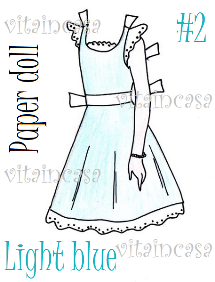 Light blue dress res