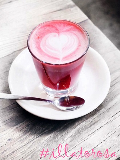 beetroot latte il lato rosa #illatorosa