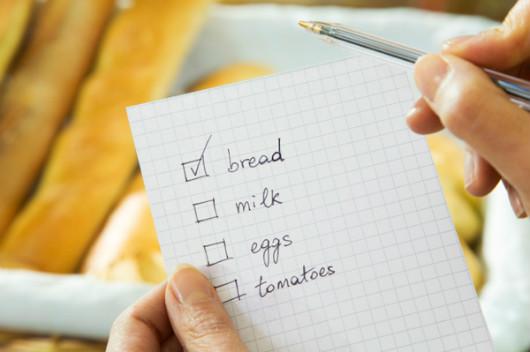 Risparmiare con la lista della spesa