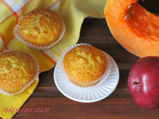 Muffin zucca e mela