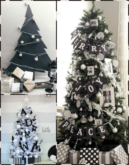Immagini Di Natale In Bianco E Nero.Idee Per Il Natale In Bianco E Nero In Chiave Shabby