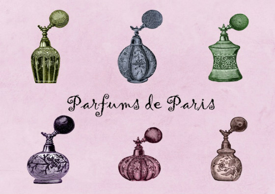 perfume-bottles-vintage-set