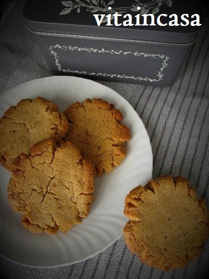 Peanut butter cookies, cookies al burro d'arachidi