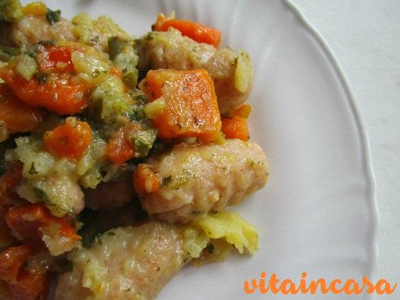 Gnocchi di pangrattato con verdure del minestrone cs