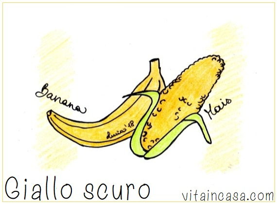 giallo scuro banana e mais