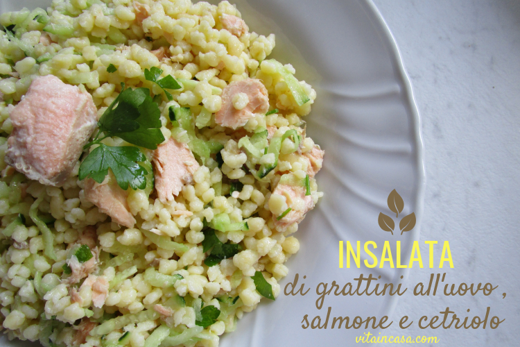 Insalata di grattini all uovo salmone e cetriolo by vitaincasa r