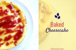 Baked cheesecake Cheesecake con cottura Cheesecake cotta al forno