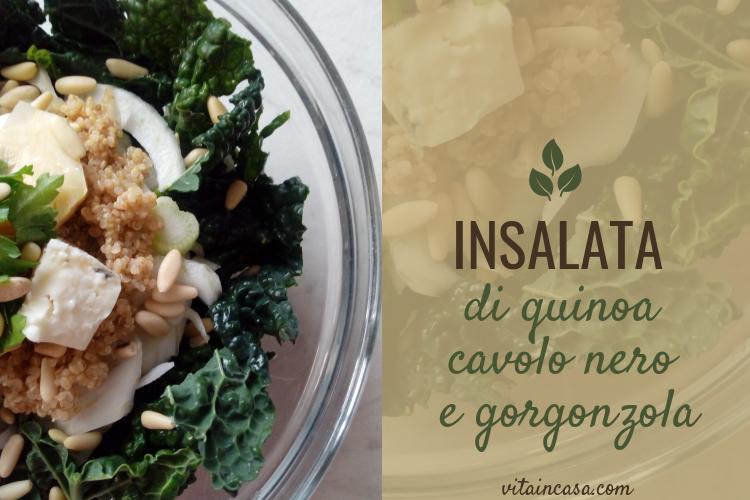 Insalata di quinoa cavolo nero e gorgonzola by vitaincasa (3)