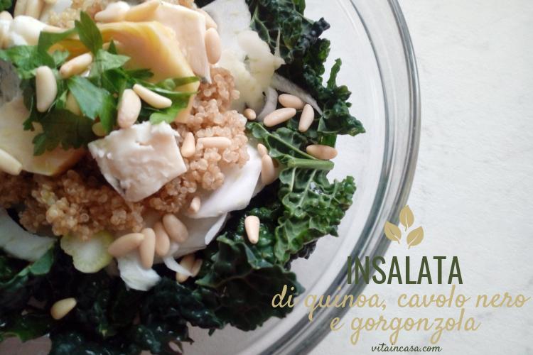 Insalata di quinoa cavolo nero e gorgonzola by vitaincasa (4)