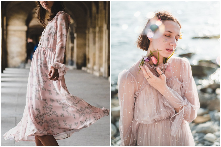 Pink romantic dresses by vitaincasa