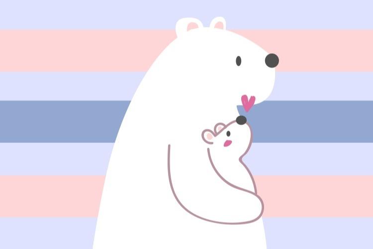 Mamma orsa con orsetto by vitaincasa