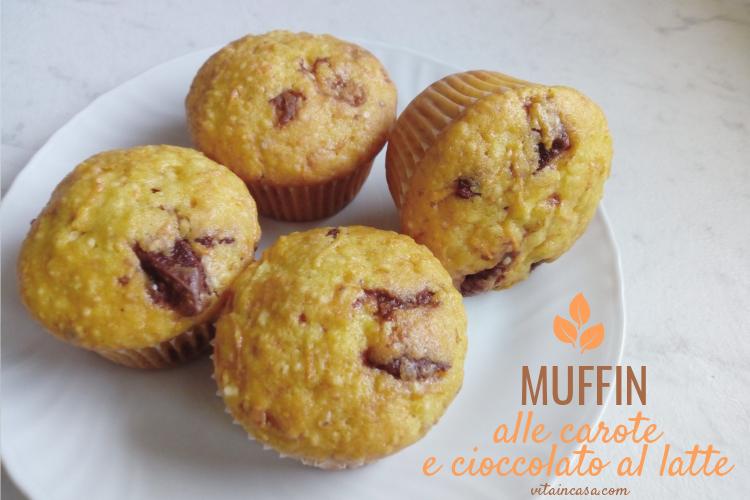 Muffin alle carote e cioccolato al latte by vitaincasa li (1)