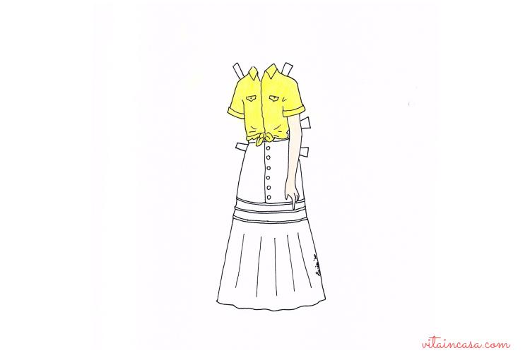 Completo giallo di Napoli e bianco by vitaincasa C