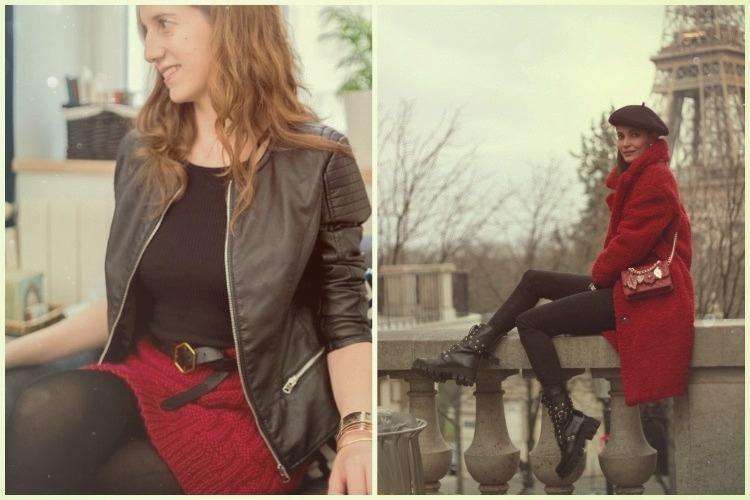 D Recall un tocco di rosso biker jacket e anfibi by vitaincasa