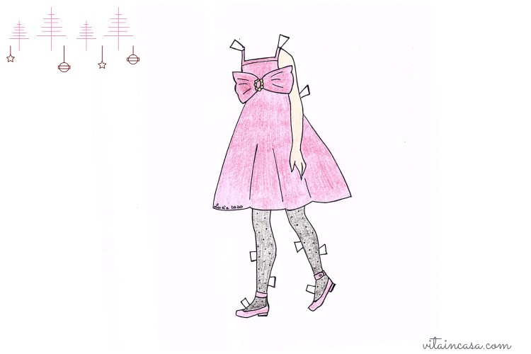 Abito New Year s Eve paper doll by vitaincasa