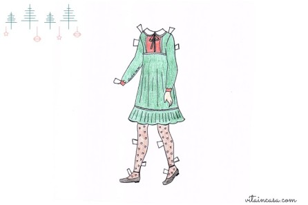 Last days of the holidays dress paper doll by vitaincasa