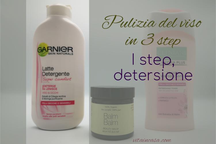 Pulizia del viso I step latte detergente by vitaincasa