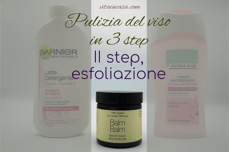 Pulizia del viso in 3 step esfoliante 2 in 1 by vitaincasa