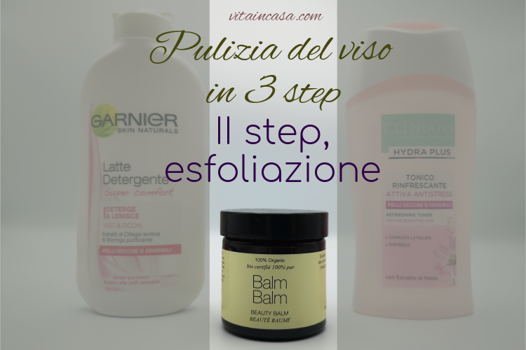 Pulizia del viso in 3 step esfoliante 2 in 1 by vitaincasa